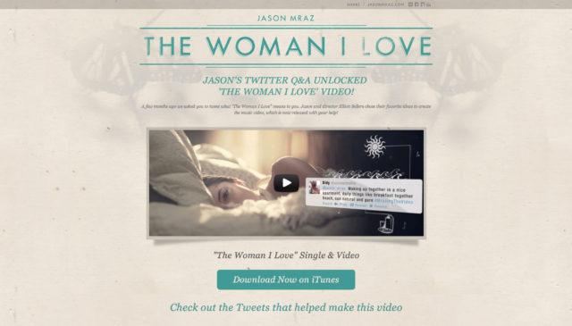 "Jason Mraz ""The Woman I Love"""